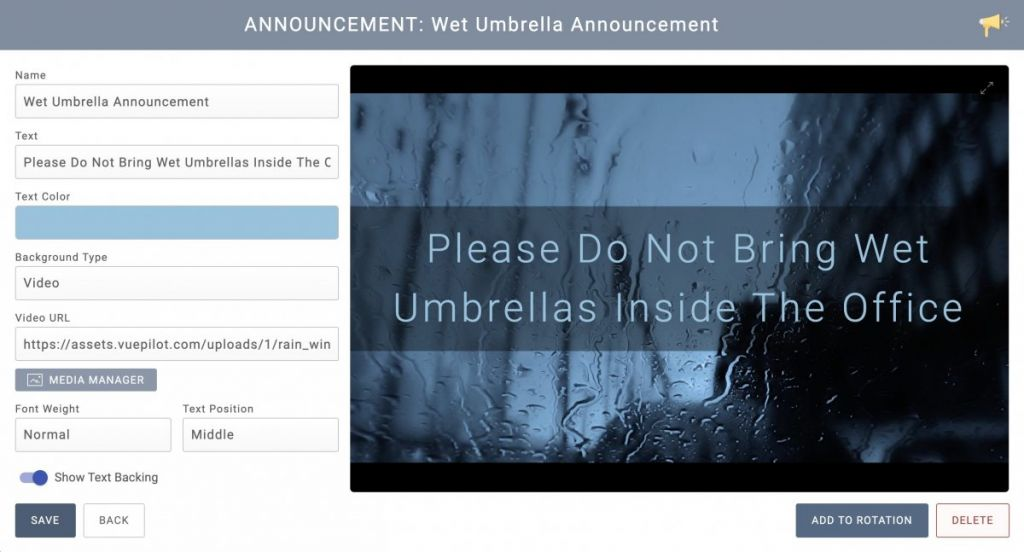 Wet Umbrella Announcement