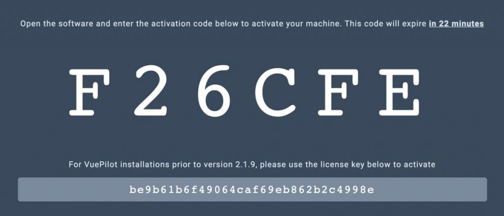 Generated Activation Code