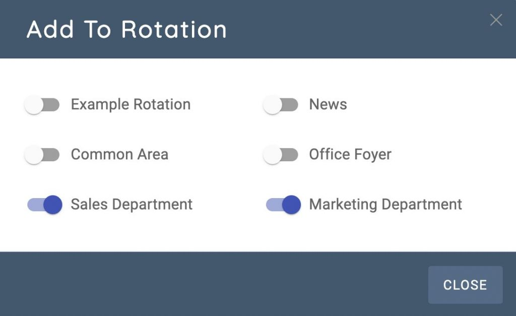 Add To Rotation Modal