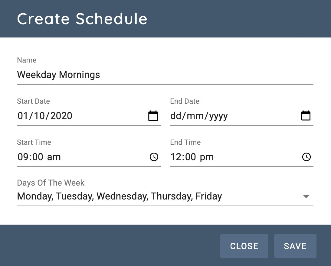 Creating a dashboard rotation schedule