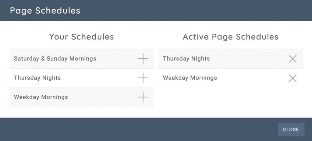 Page Schedules