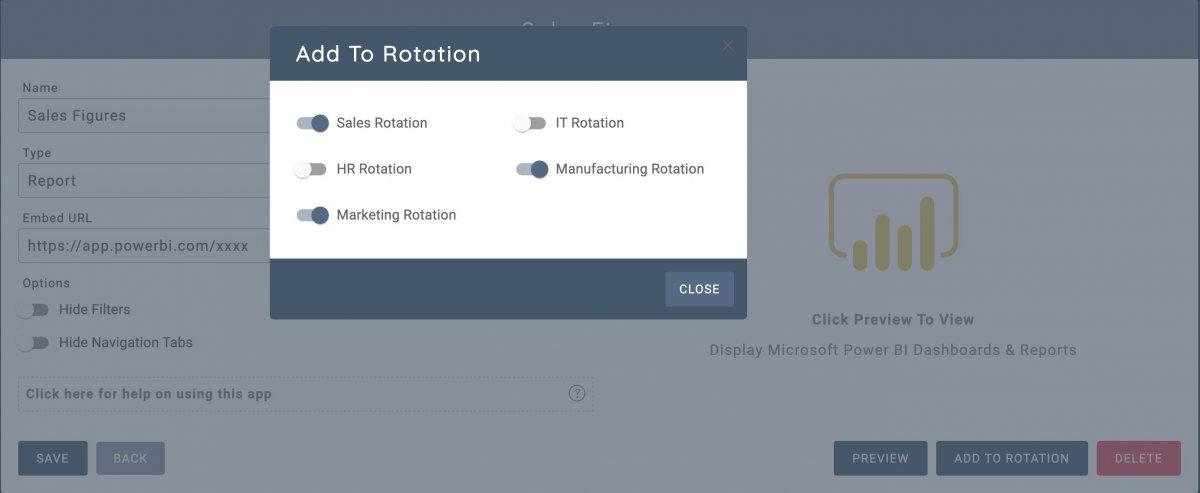 Adding Microsoft Power BI dashboards to your rotation