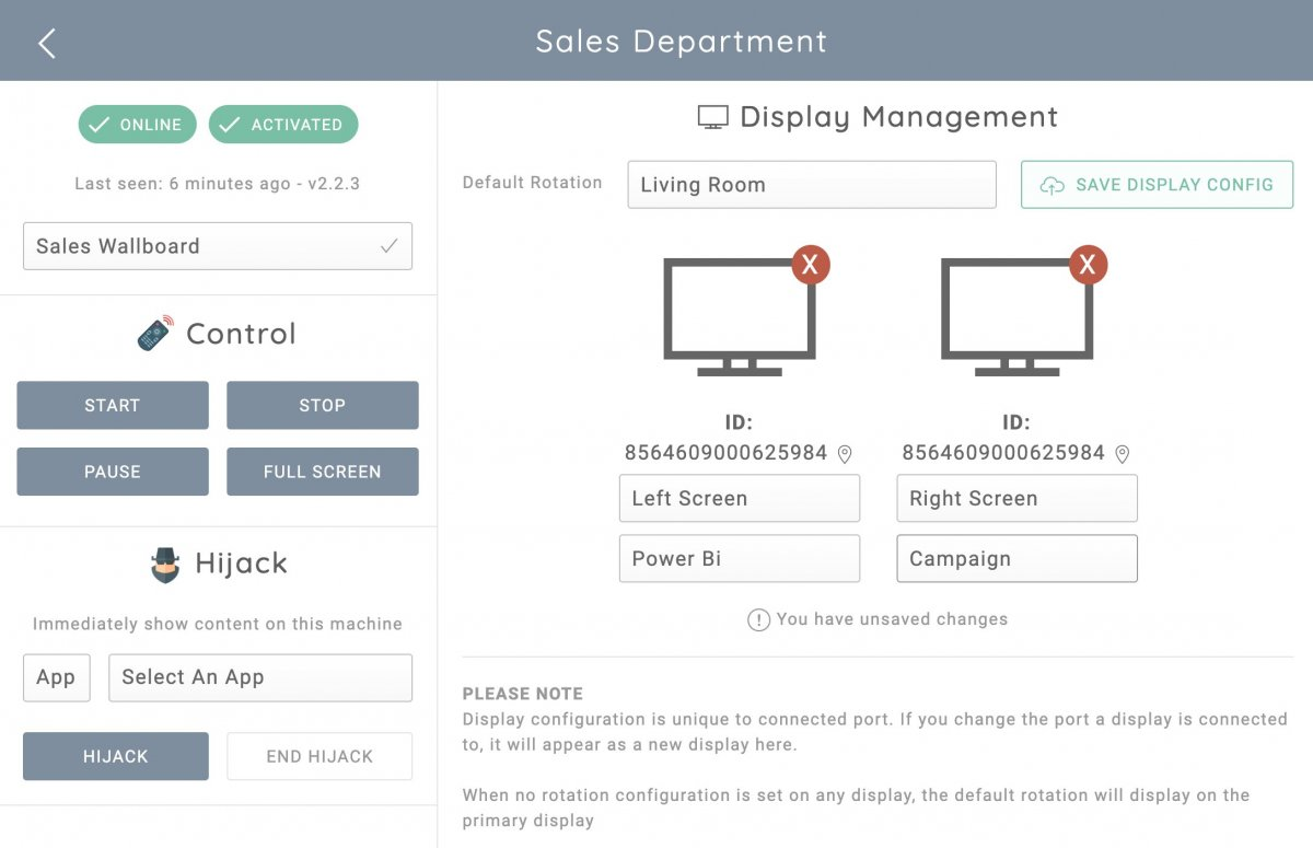 Remotely manage your TV dashboard machines from the VuePilot dashboard